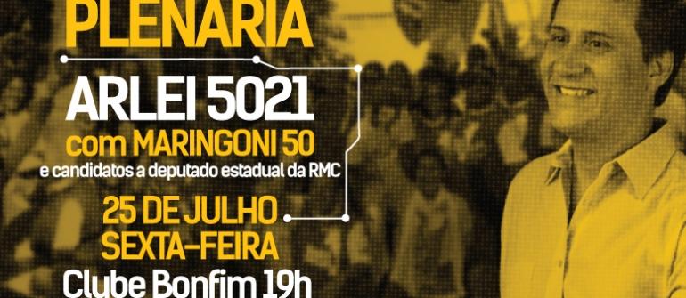 Arlei lança candidatura e Maringoni,  candidato ao governo do Estado, estará presente