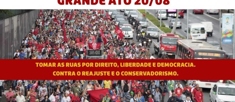 Tomar as ruas por direitos, liberdade e democracia!