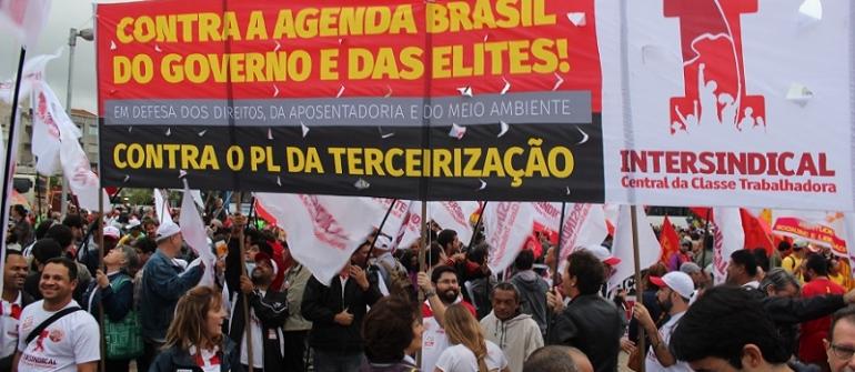 Assista ao vídeo do Ato contra o ajuste fiscal e a Agenda Brasil (20/08/2015)